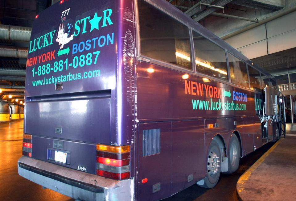 A Lucky Star bus at South Station.